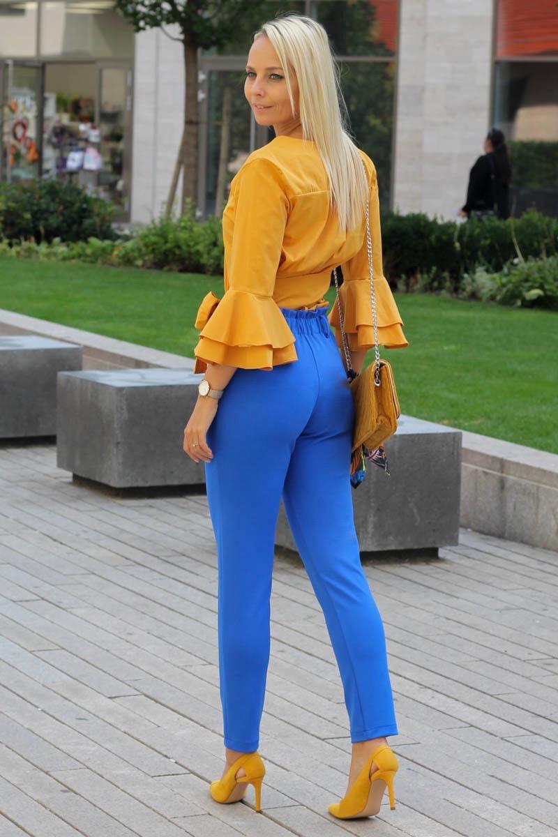 kék őszi nadrág