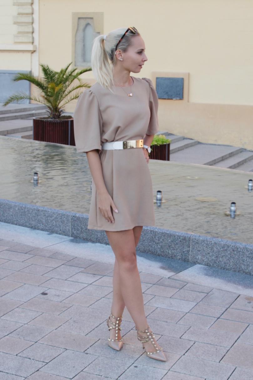 designer cipő barna ruha