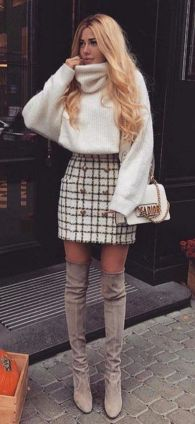 tweed miniszoknya