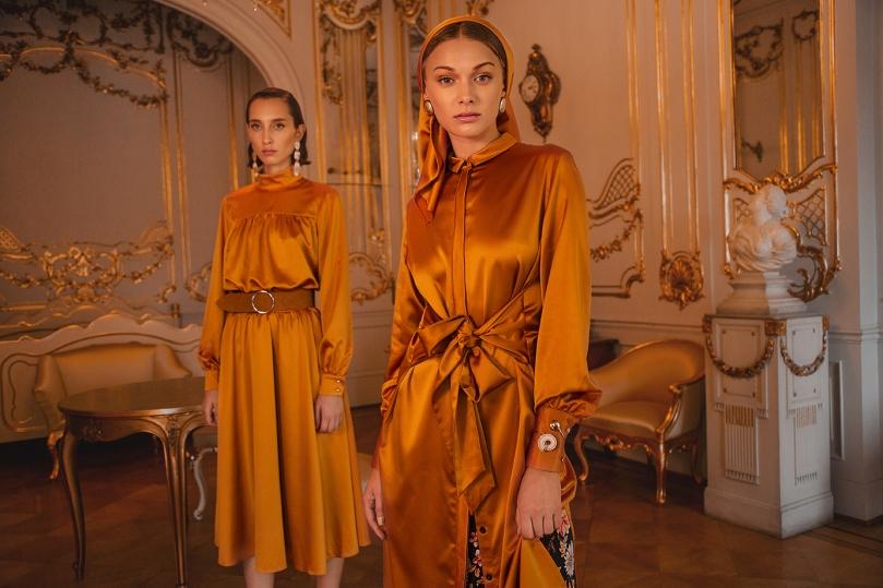 answear heritage sárga selyem ruhák