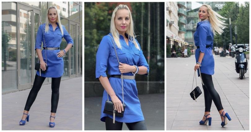 őszi kék ingruha főkép