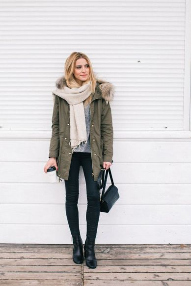 parka street style outfit