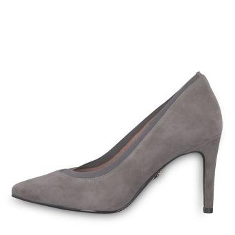 Tamaris szürke magassarkú cipő