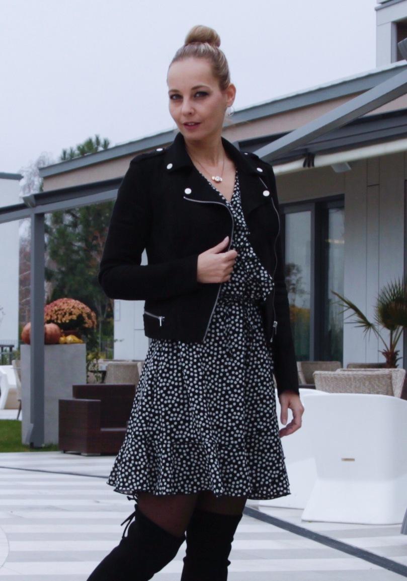 bonprix fekete lapolós ruha
