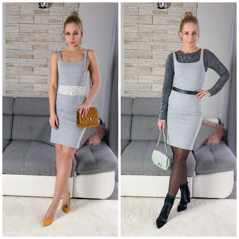szürke Zara ruha