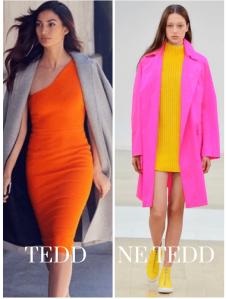 neon színű ruha