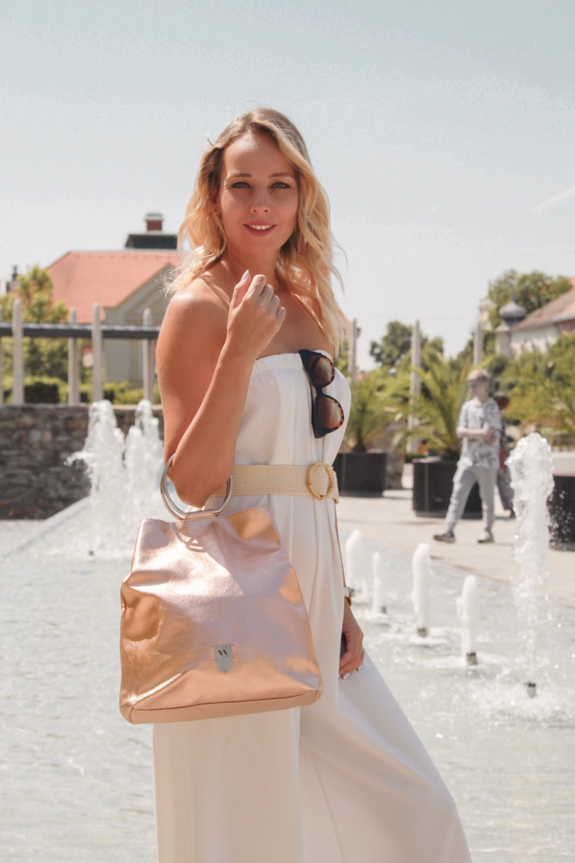 rosegold bőr táska