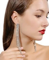 kristály hosszú fülbevaló