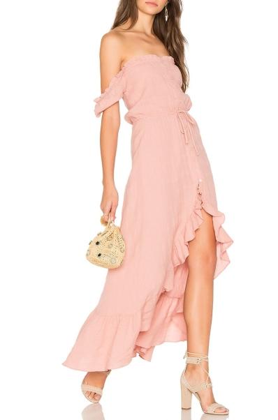 babarózsaszín ruha