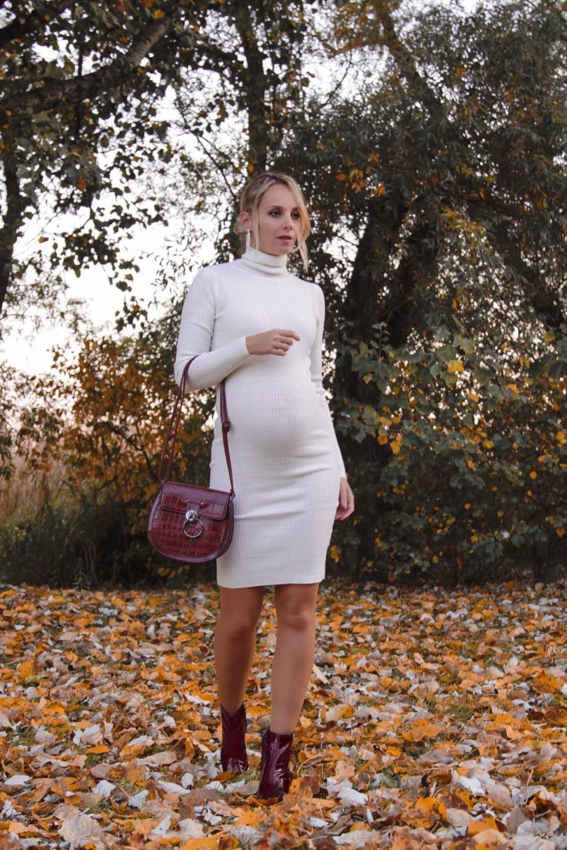 2019 őszi divat kötött ruha kismama divat