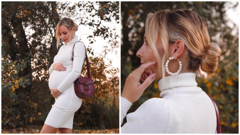 ősz kismama ruha terhesség divat