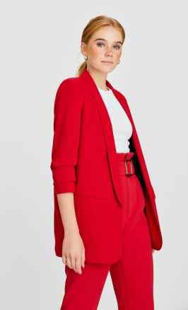 piros női blézer