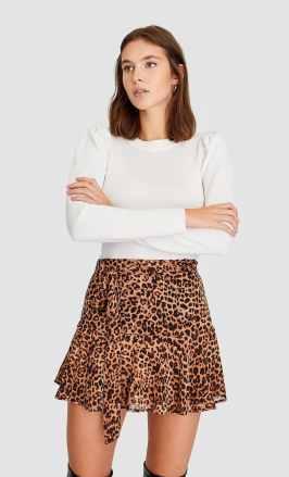 leopárd mintás szoknya