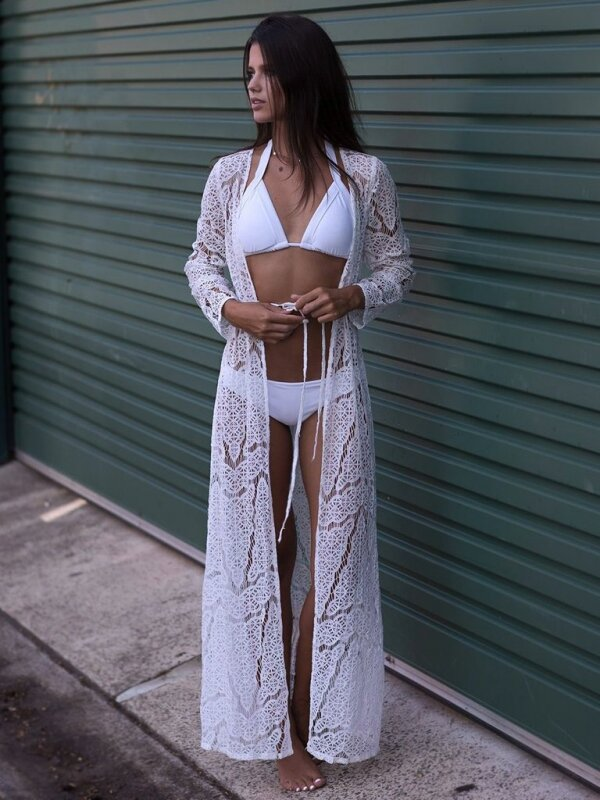 fehér hosszú strandruha