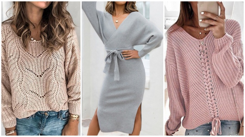 kötött ruha divat 2020