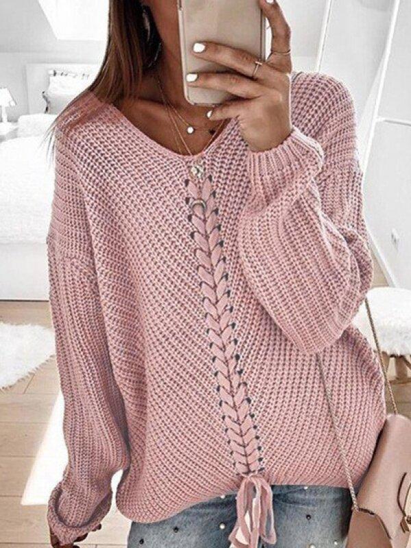 2020 kötött pulóver