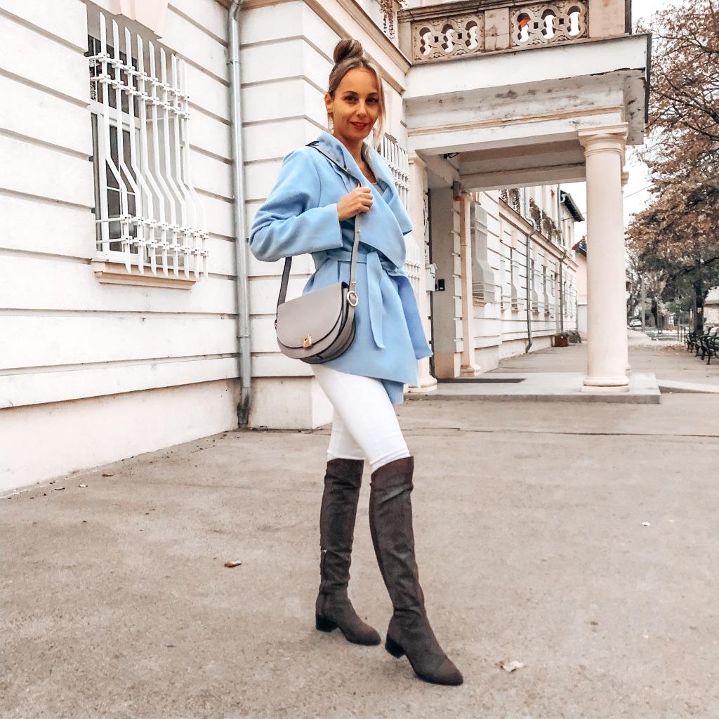 bagissimo szürke női őszi outfit 2020