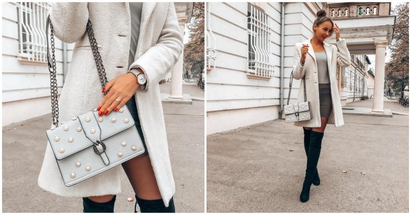 2020 őszi divat szürke táska bagissimo