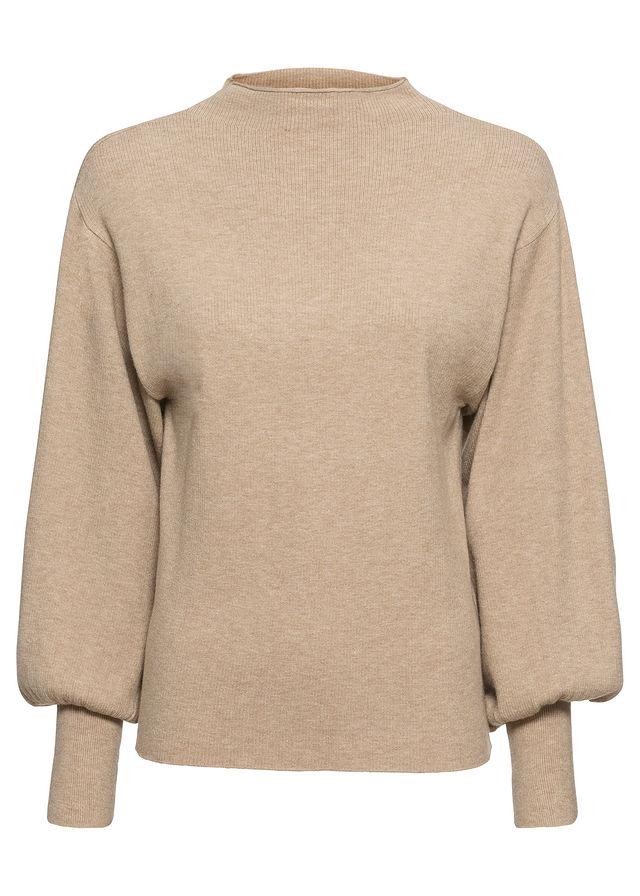 Bonprix puffos ujjú kötött pulóver